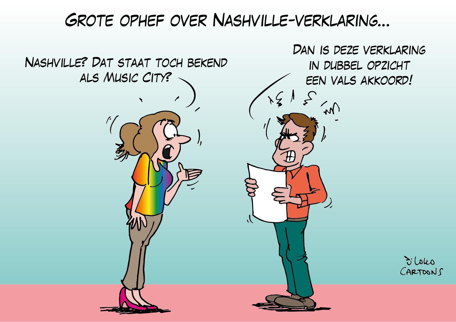 Grote ophef over Nashville-verklaring…