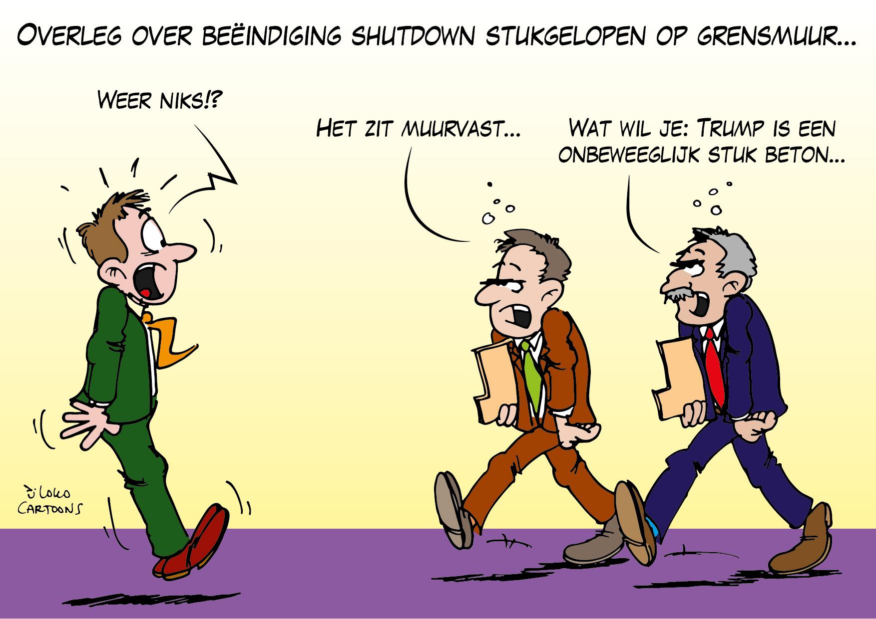 Overleg over beeïndiging shutdown stukgelopen op grensmuur…