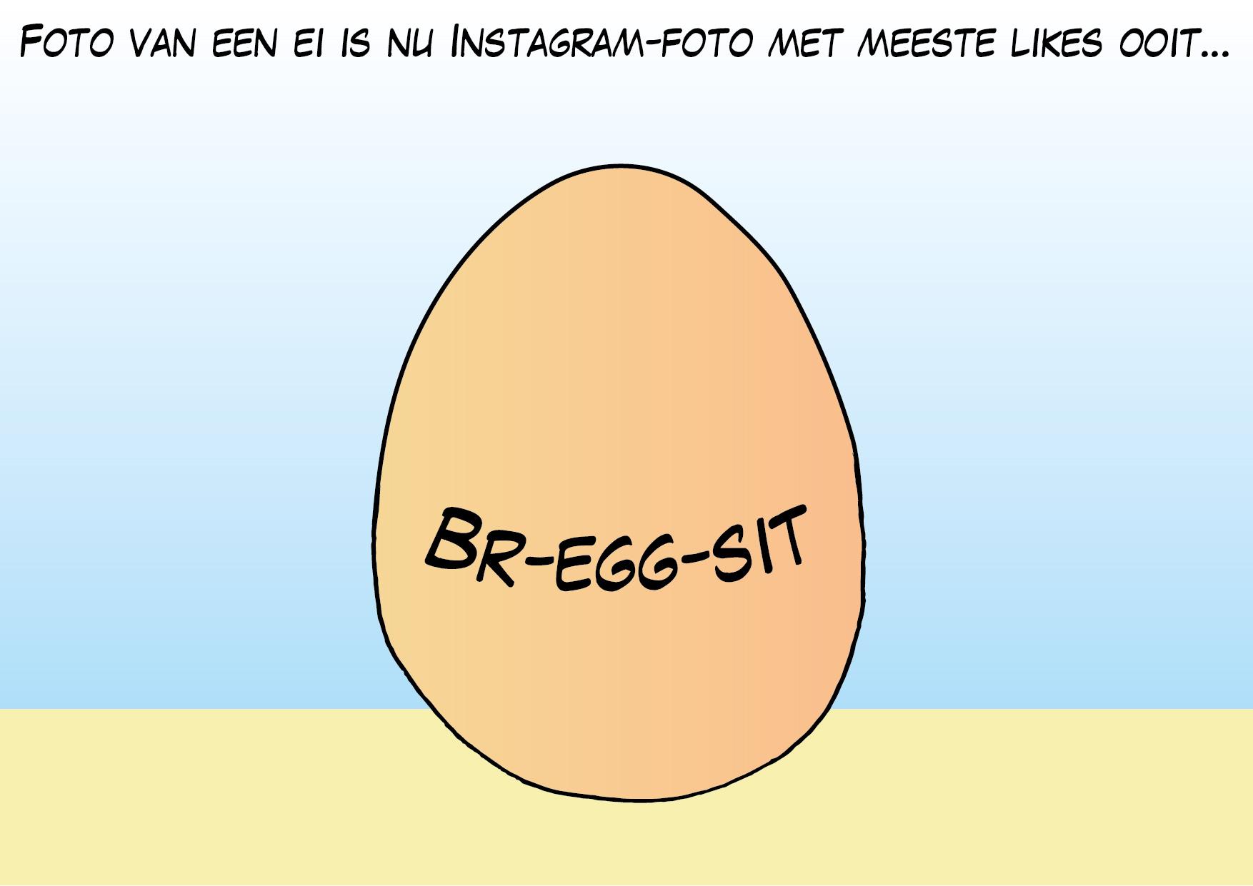 Foto van een ei is nu Instagram-foto met de meeste likes ooit…
