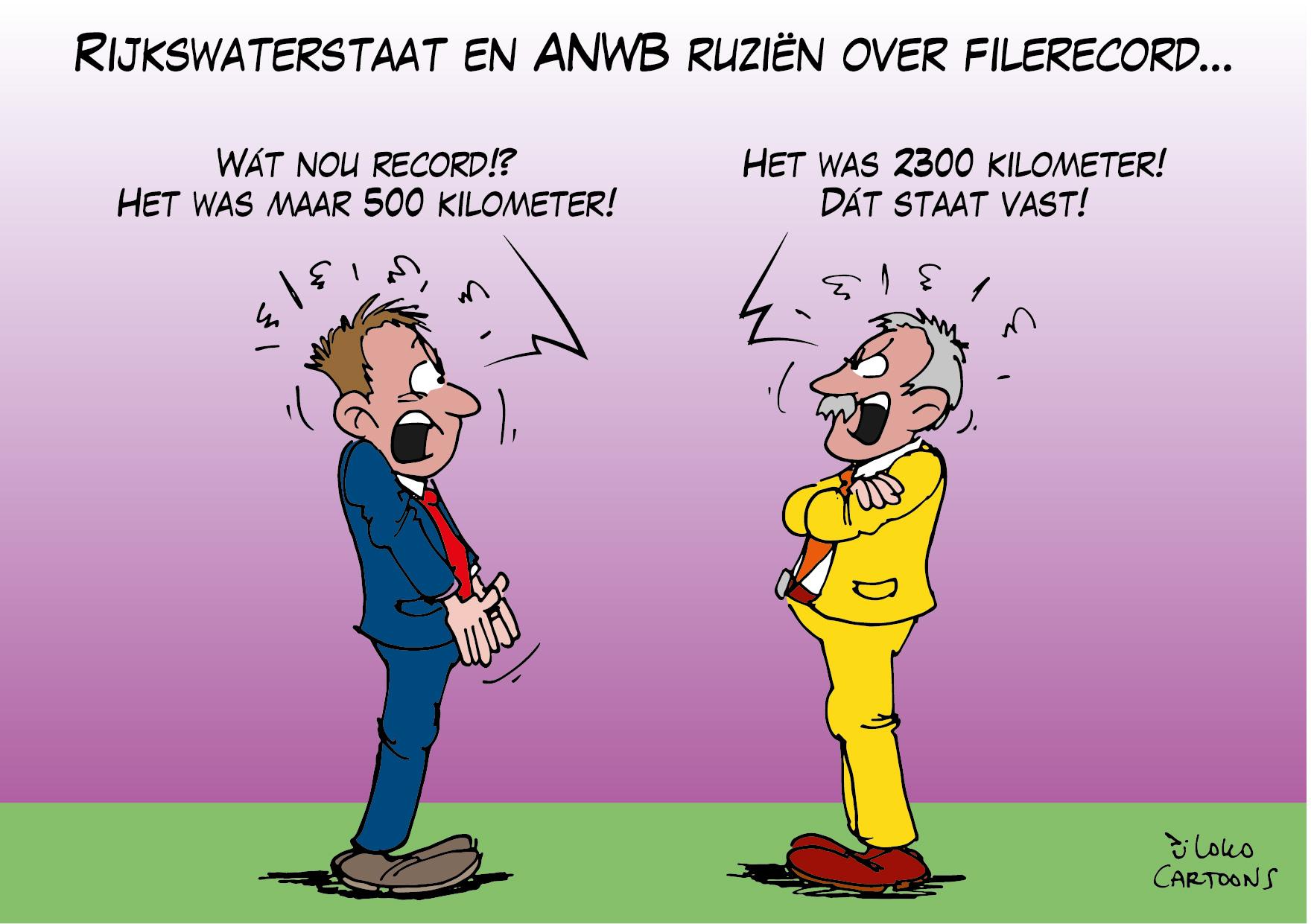 Rijkswaterstaat en ANWB ruzieën over filerecord…