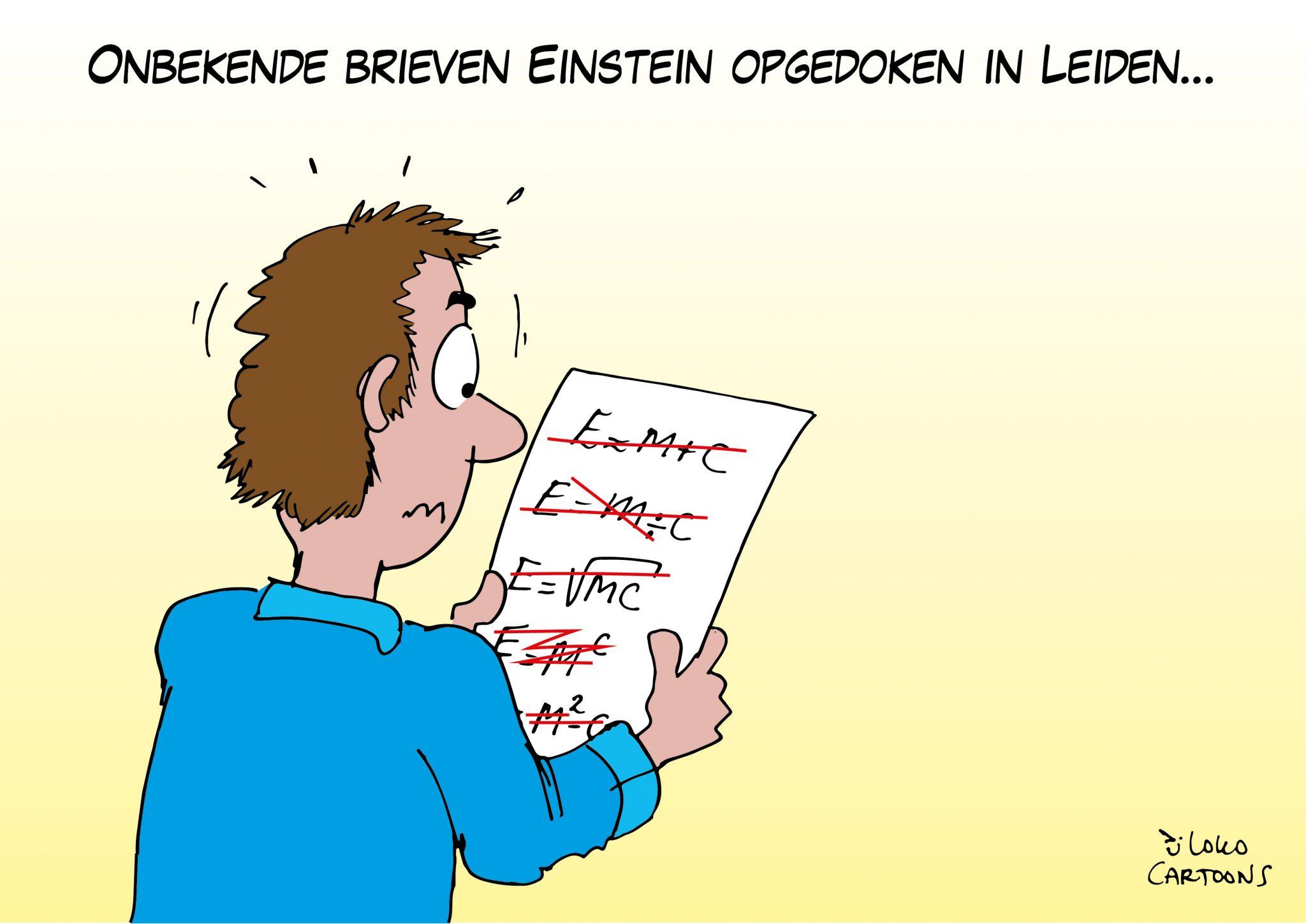 Onbekende brieven Einstein opgedoken in Leiden
