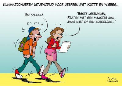 Klimaatjongeren uitgenodigd voor gesprek met Rutte en Wiebes