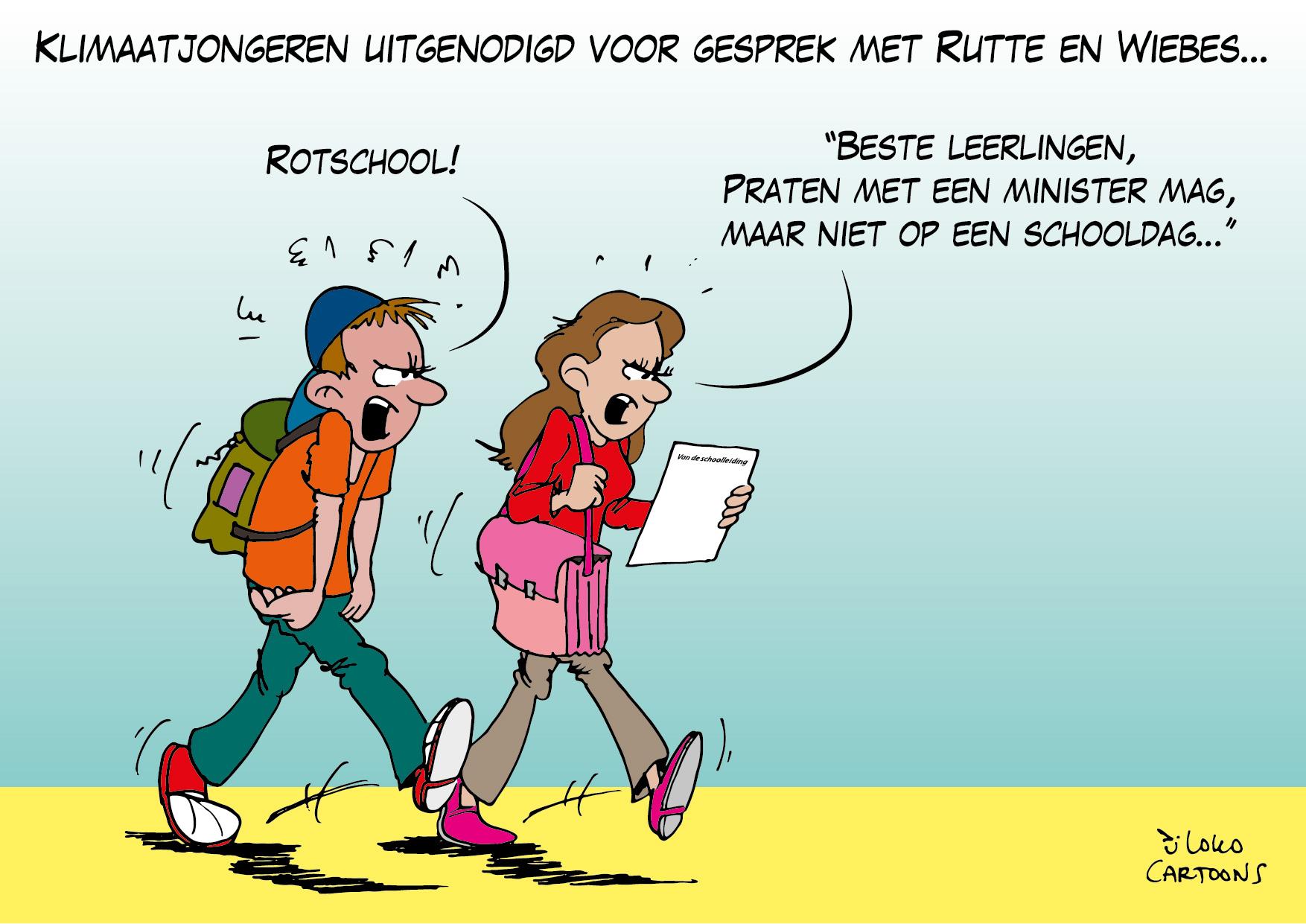 Klimaatjongeren uitgenodigd voor gesprek met Rutte en Wiebes…