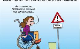 Lucile Werner wil Minister van Gehandicaptenzaken