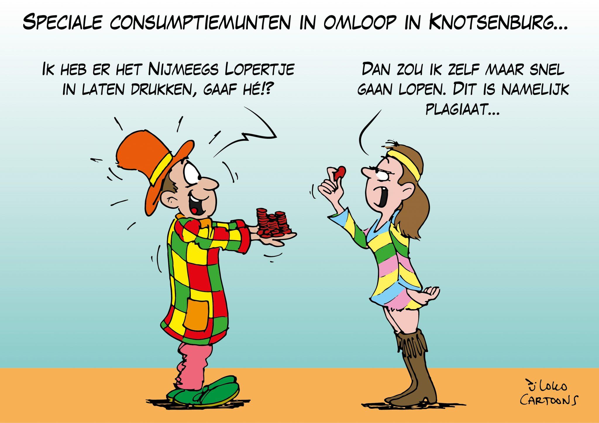 Speciale consumptiemunten in omloop Knotsenburg…