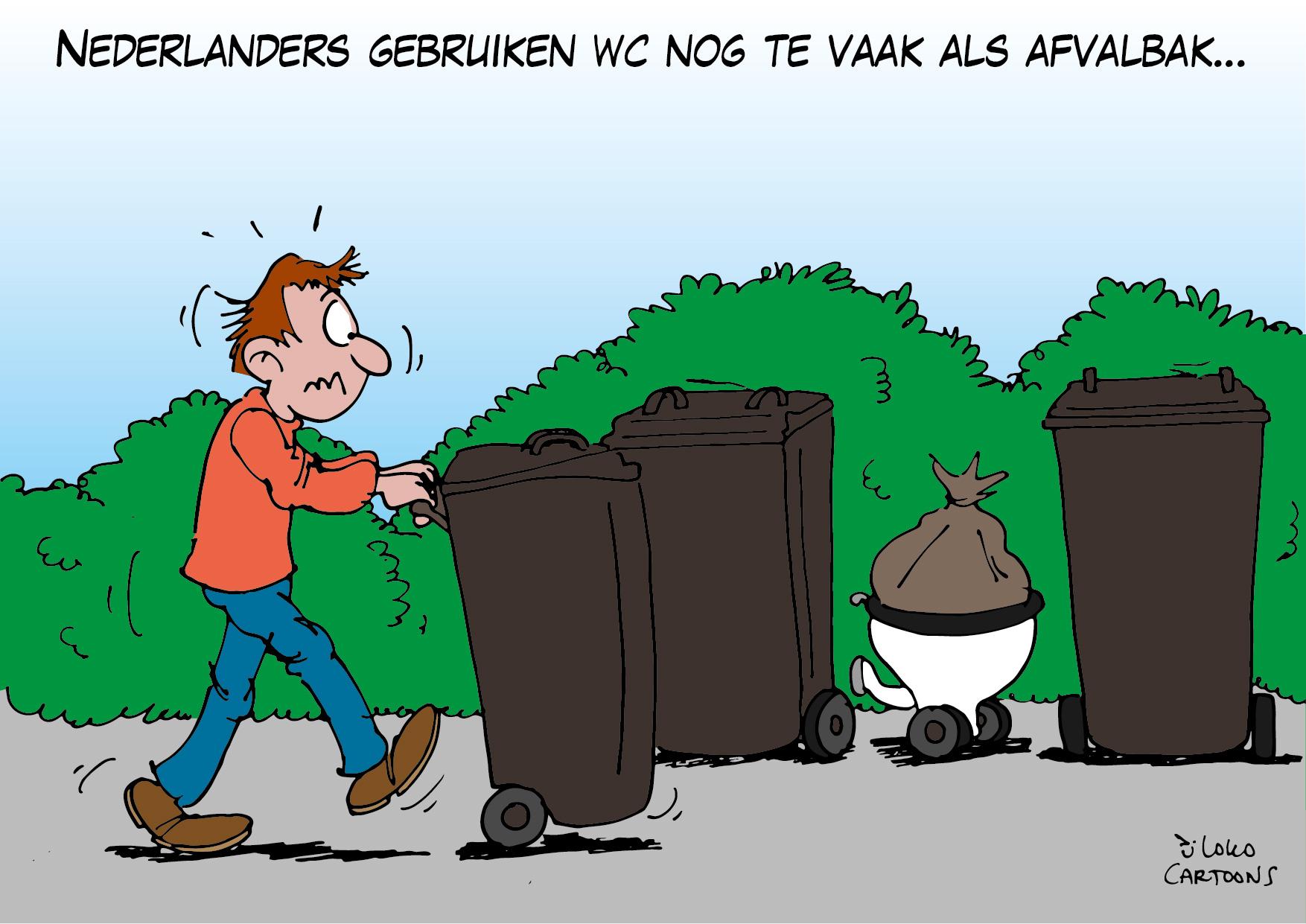 Nederlanders gebruiken WC nog te vaak als afvalbak…