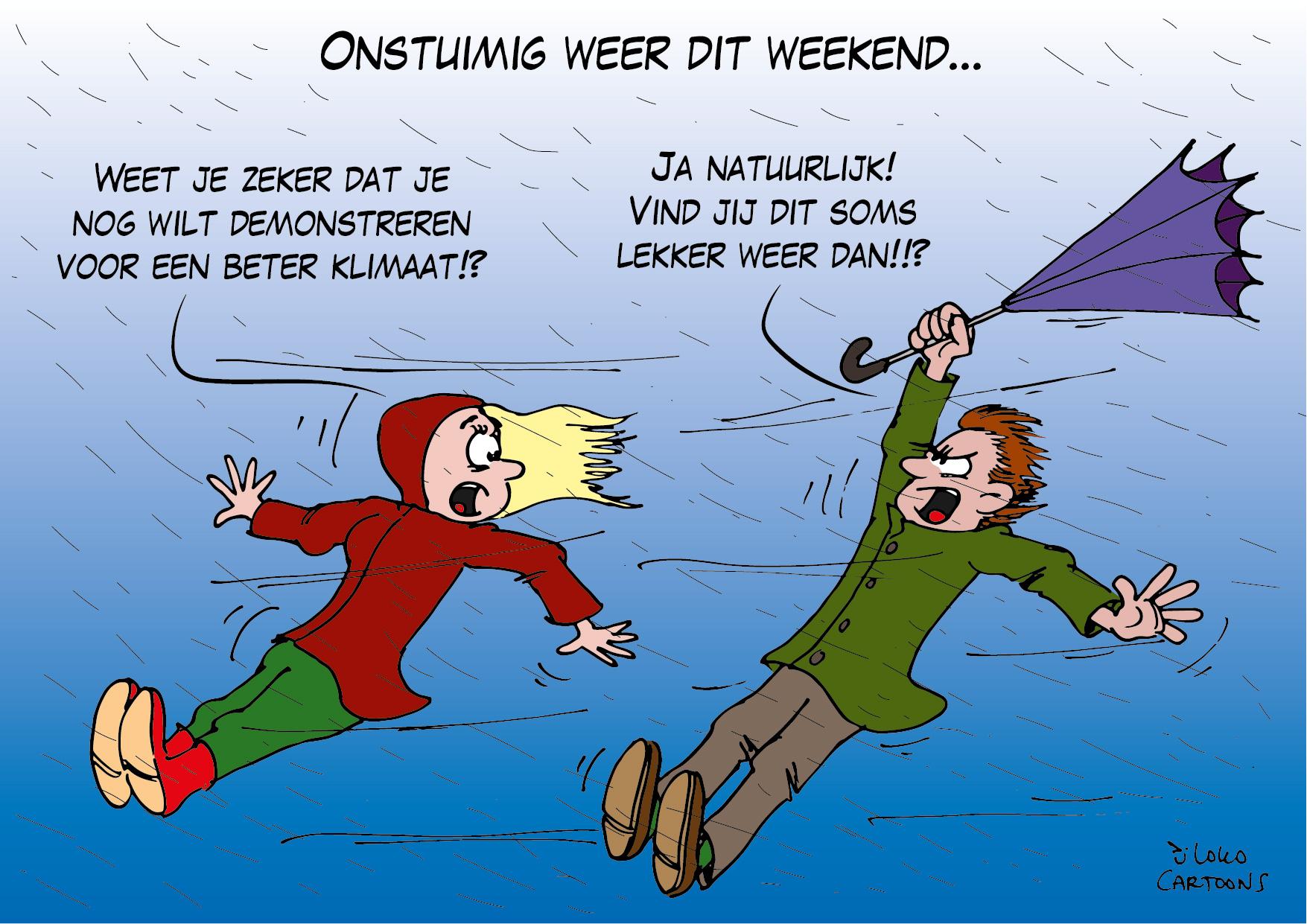 Onstuimig weer dit weekend…