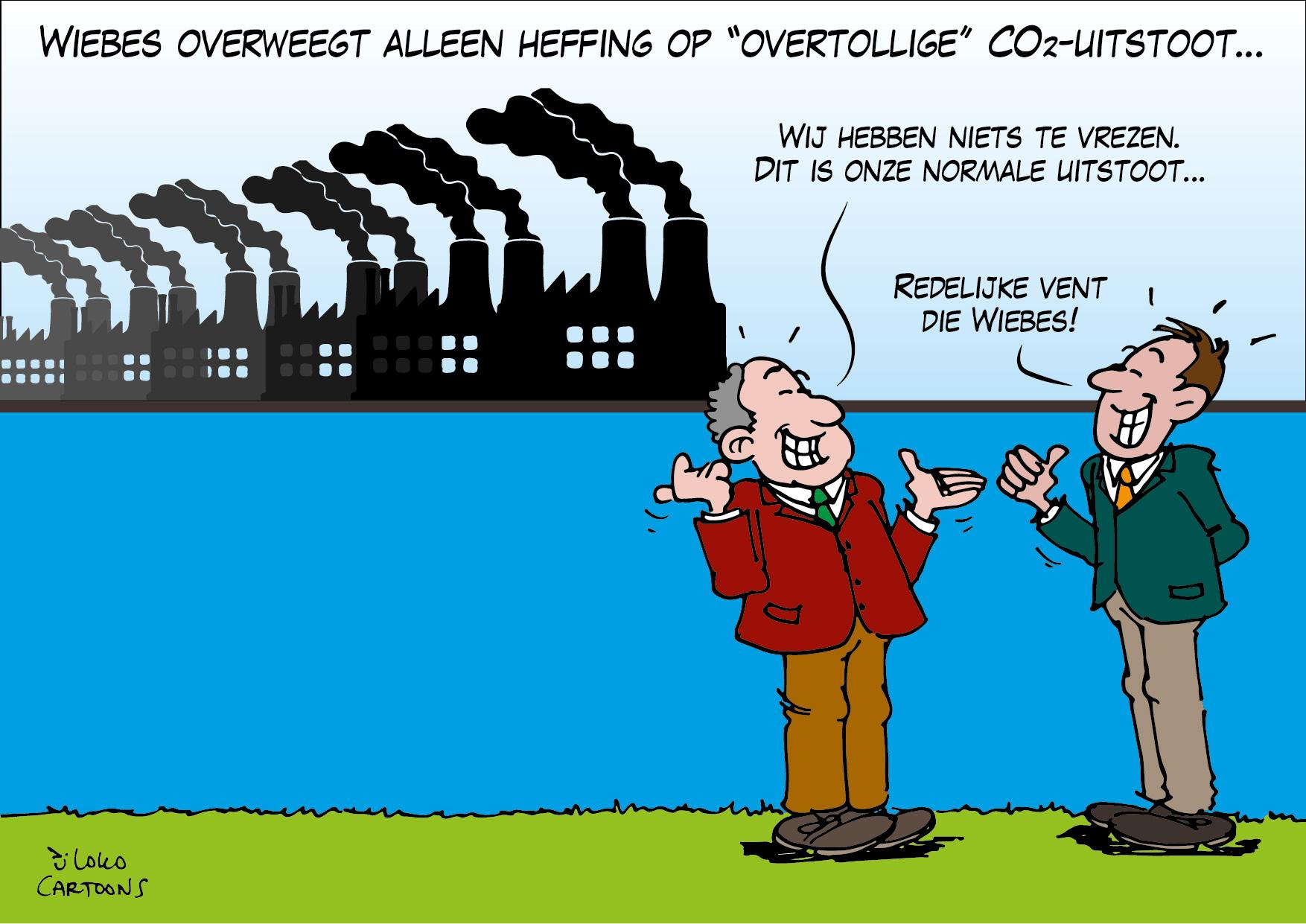 Wiebes overweegt alleen heffing op overtollige CO2-uitstoot…