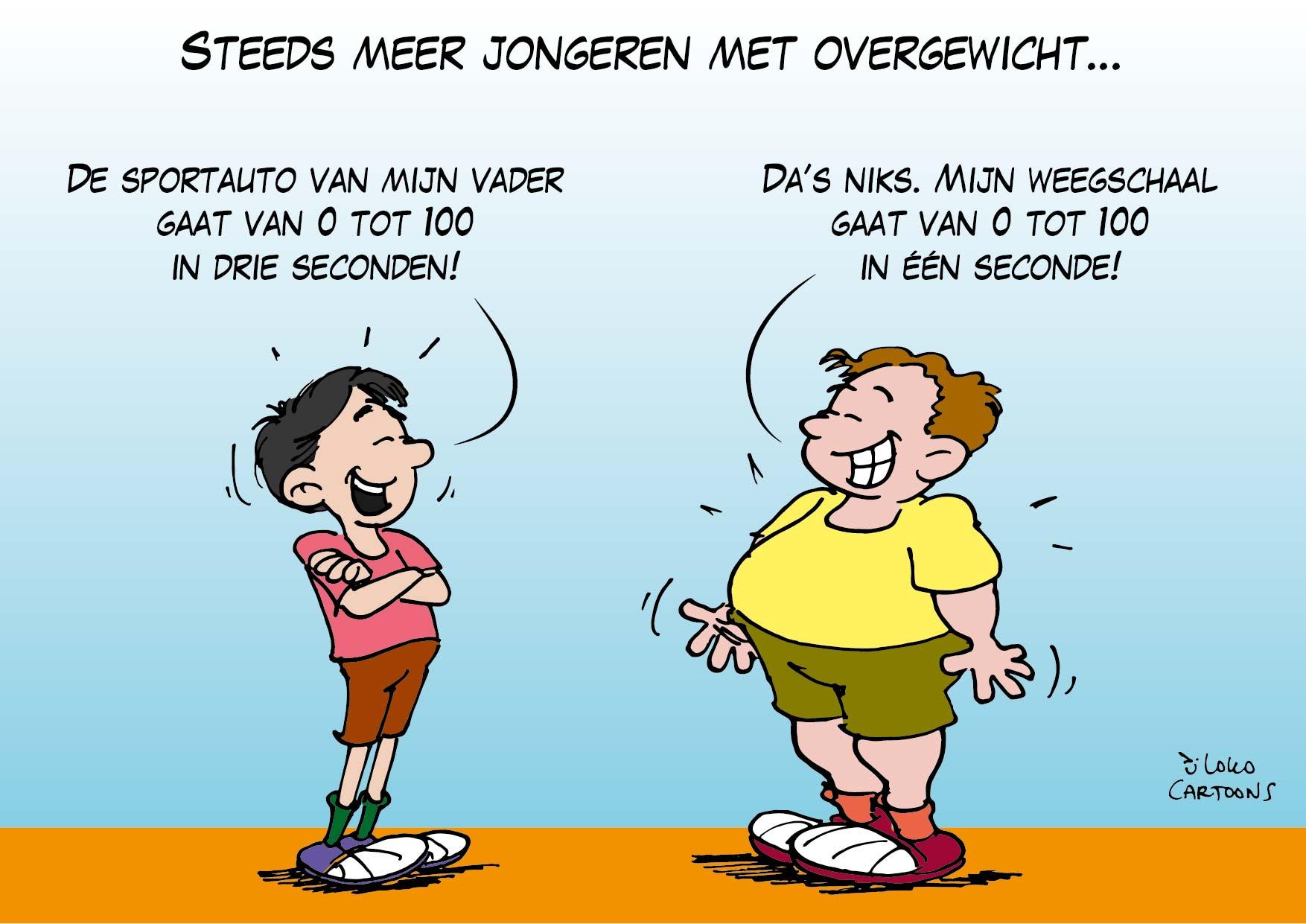Steeds meer jongeren met overgewicht…