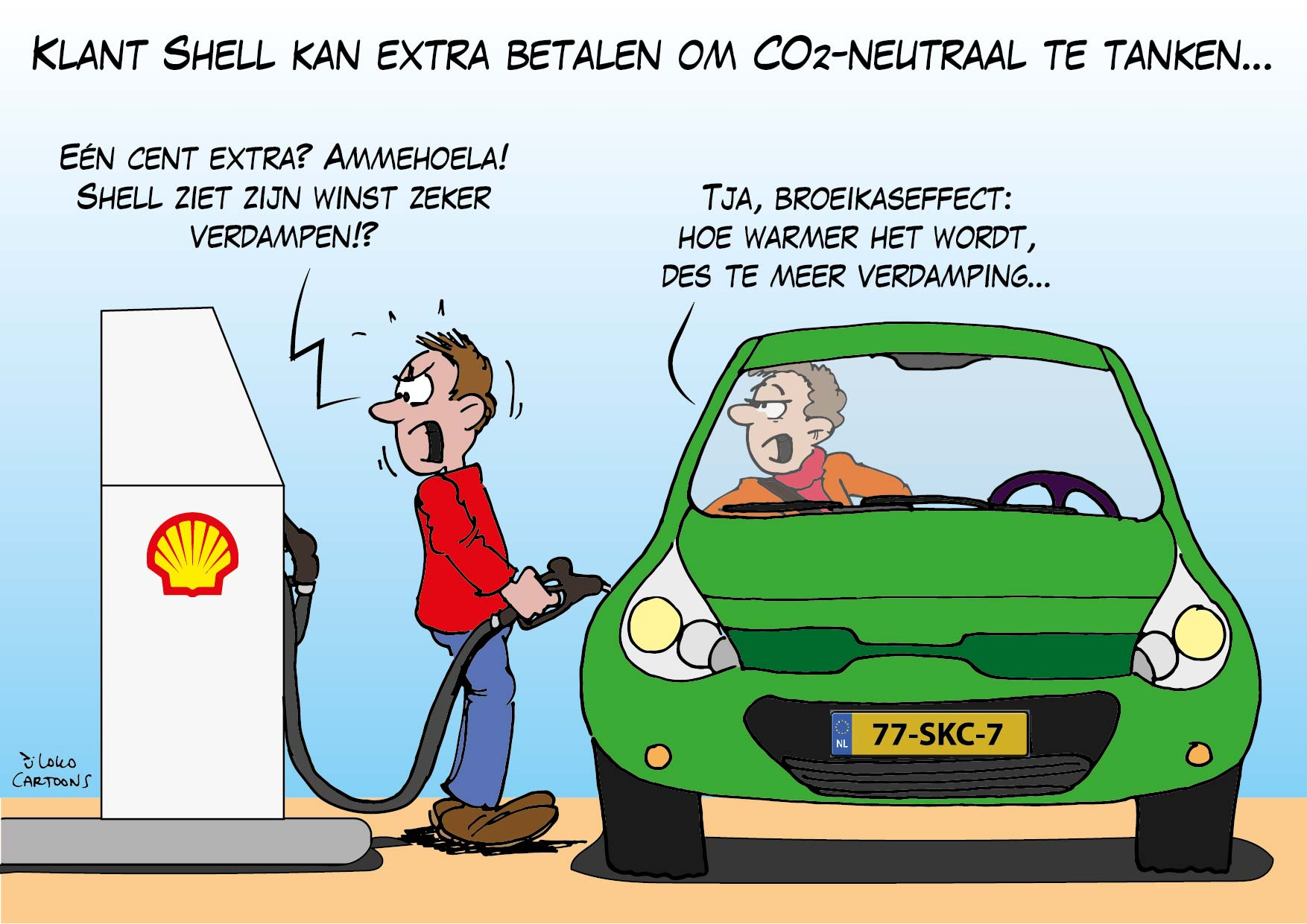 Klant Shell kan extra betalen om CO2-neutraal te tanken…