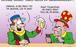 Defensie schorst Marco Kroon om carnavalsincident