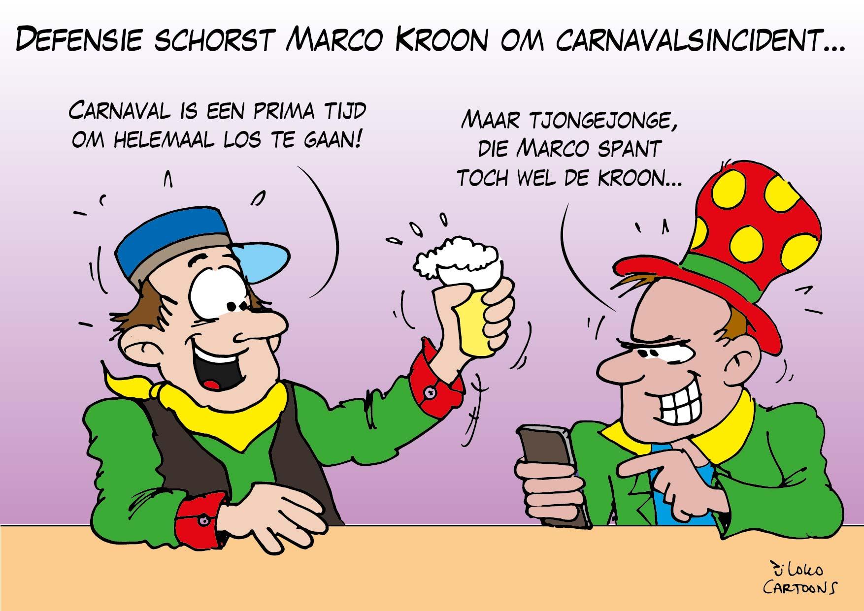 Defensie schorst Marco Kroon om carnavalsincident…