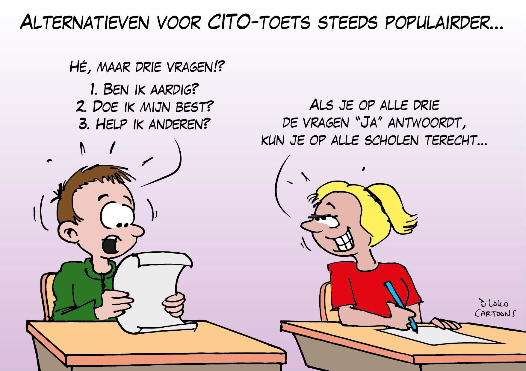 Alternatieven voor CITO-toets steeds populairder…