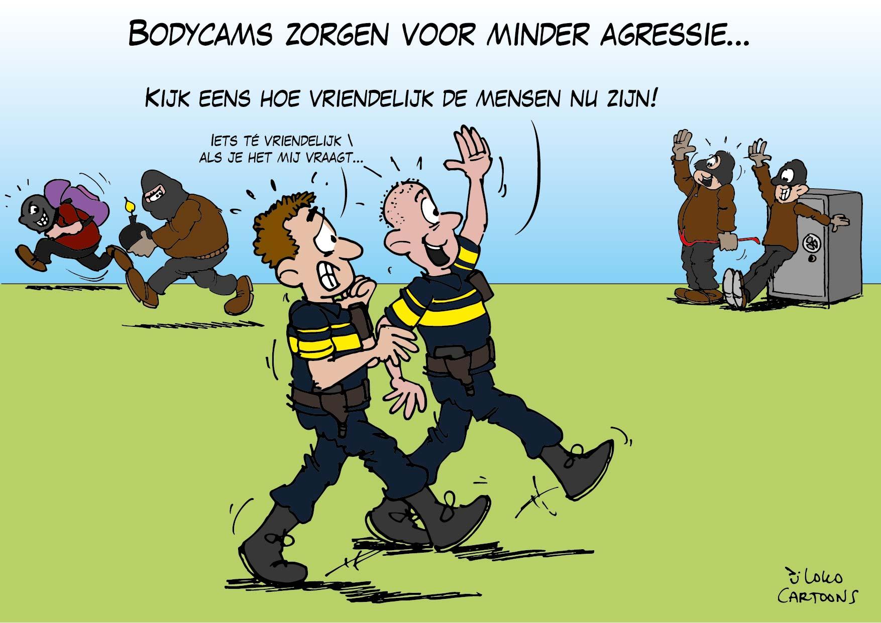 Bodycams zorgen voor minder agressie…