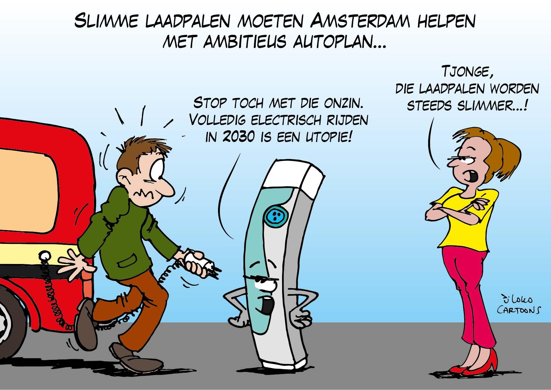 Slimme laadpalen moeten Amsterdam helpen met ambitieus autoplan…