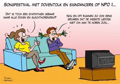 Songfestival met doventolk en signdancers op NPO 1