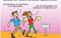 Nederland wint Songfestival dankzij publieksstemmen