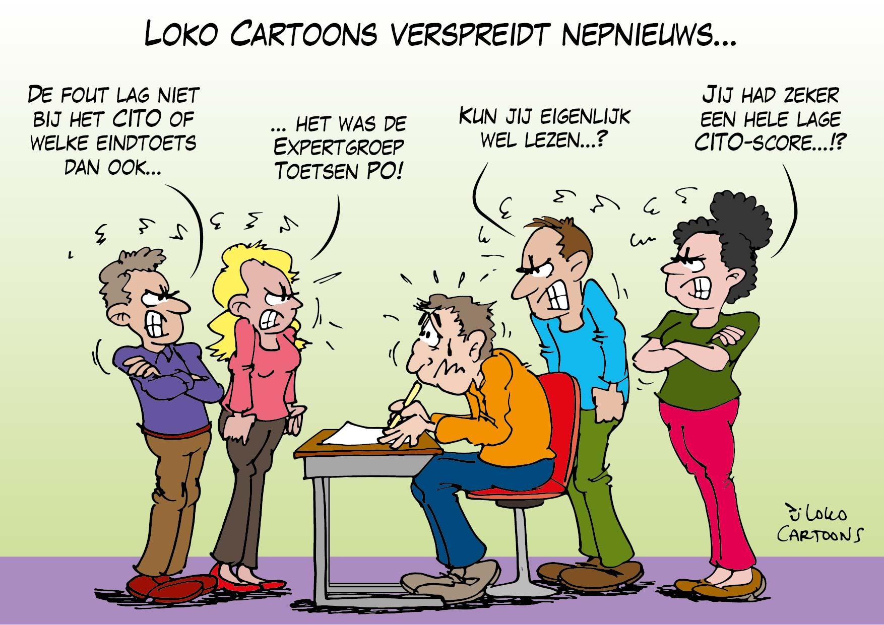Loko Cartoons verspreidt nepnieuws…