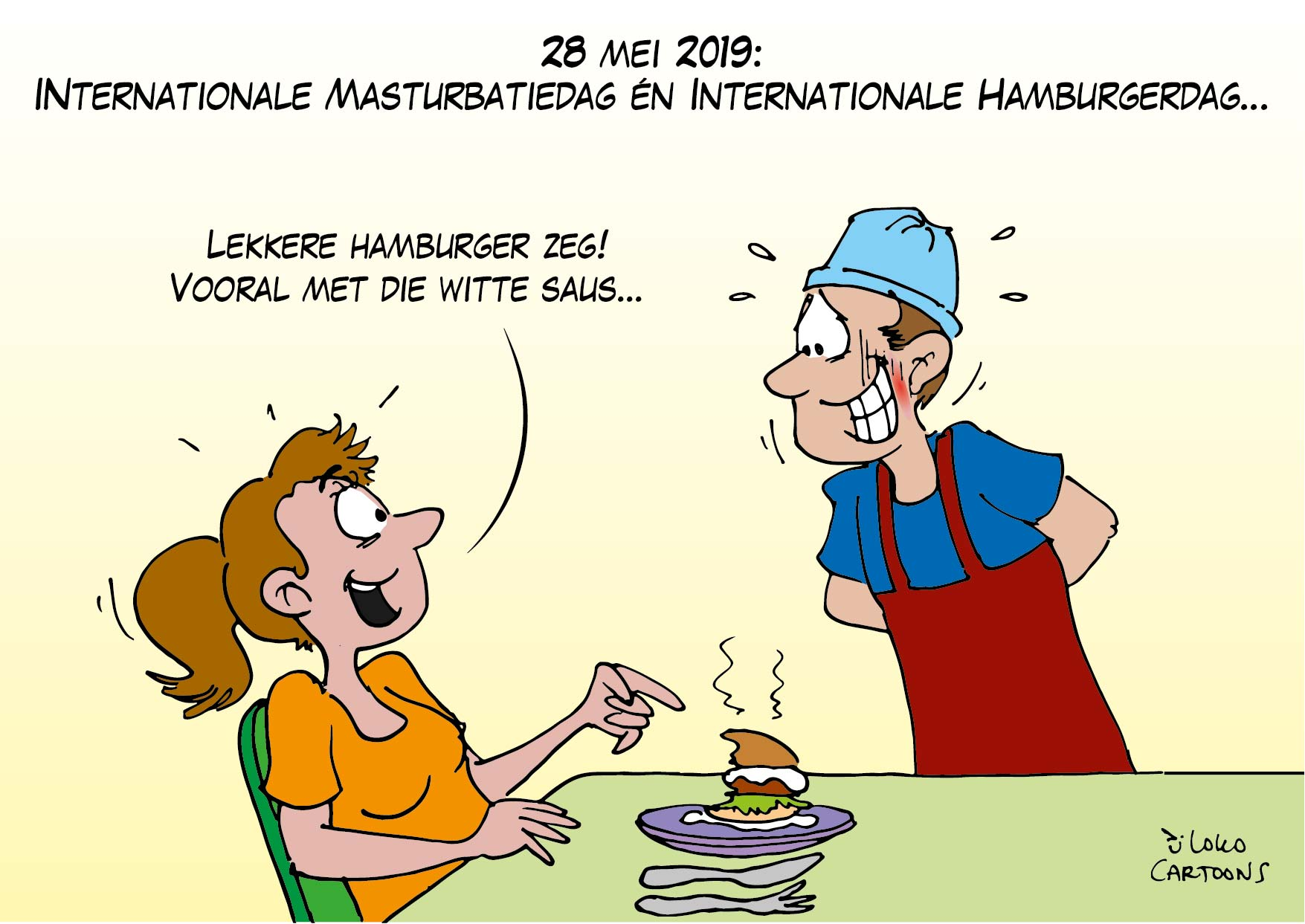 Internationale Masturbatiedag en Internationale Hamburgerdag…