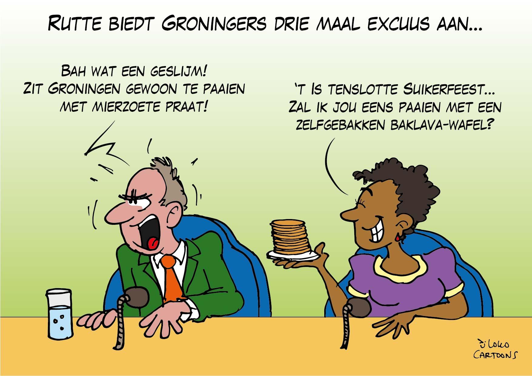 Rutte biedt Groningers drie maal excuus aan…