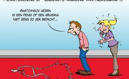 Penistekening op lelijkste kruising van Nederland