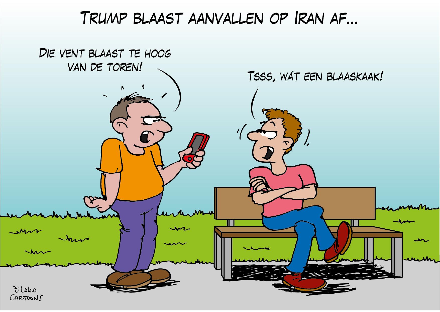 Trump blaast aanvallen op Iran af…