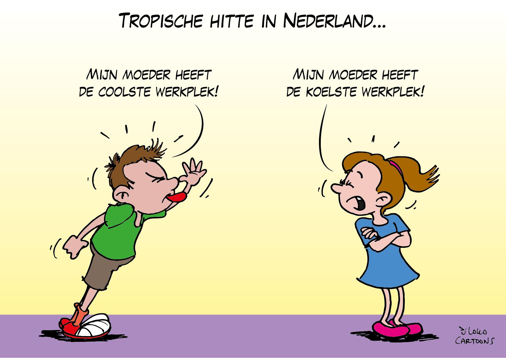 Tropische hitte in Nederland…