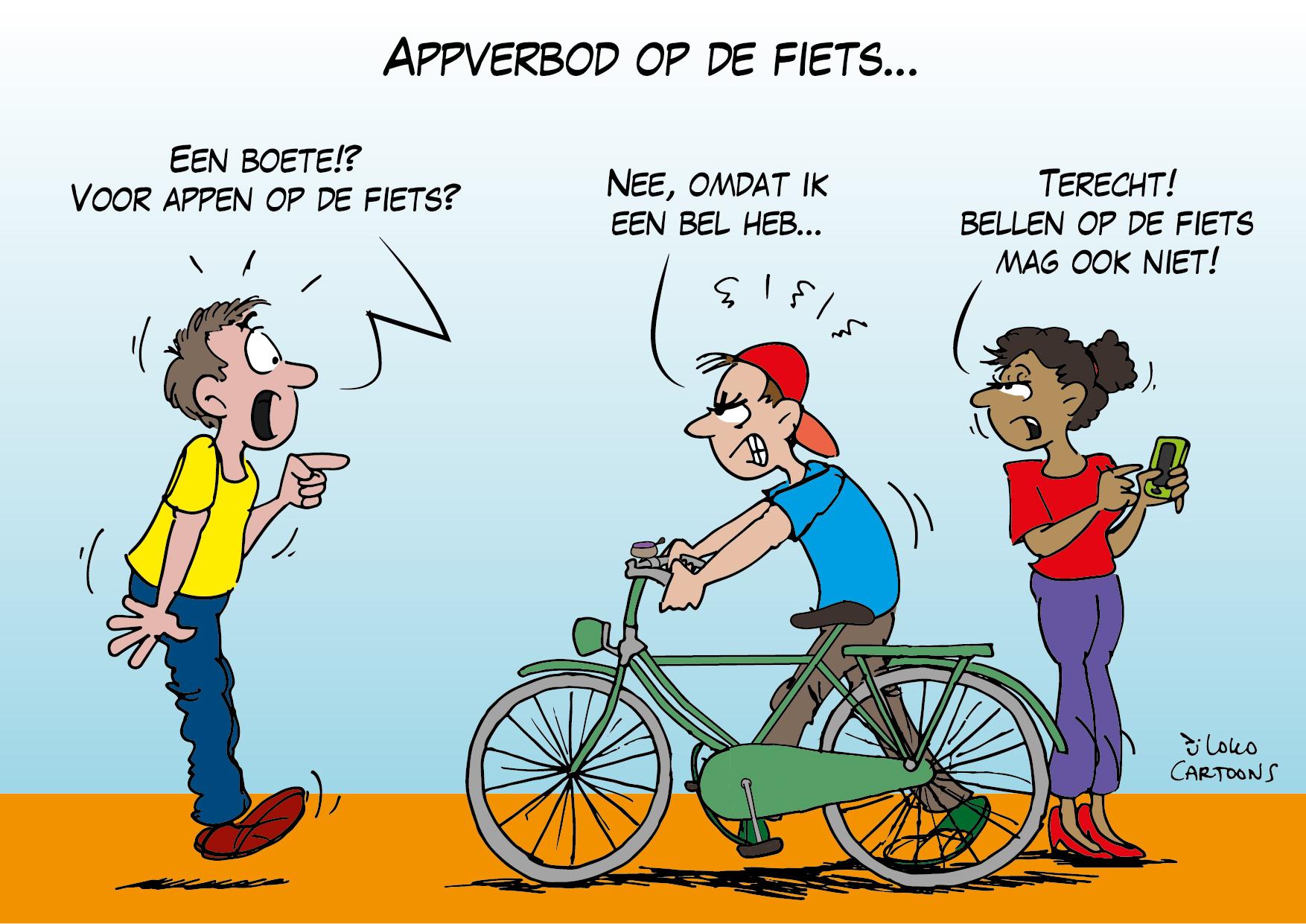 Appverbod op de fiets…
