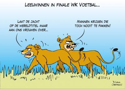Leeuwinnen in finale WK Voetbal