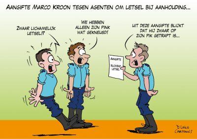 Aangifte Marco Kroon tegen agenten om letsel bij aanhouding