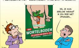 Pizzareclame met bloemkolen afgeplakt in Gouda