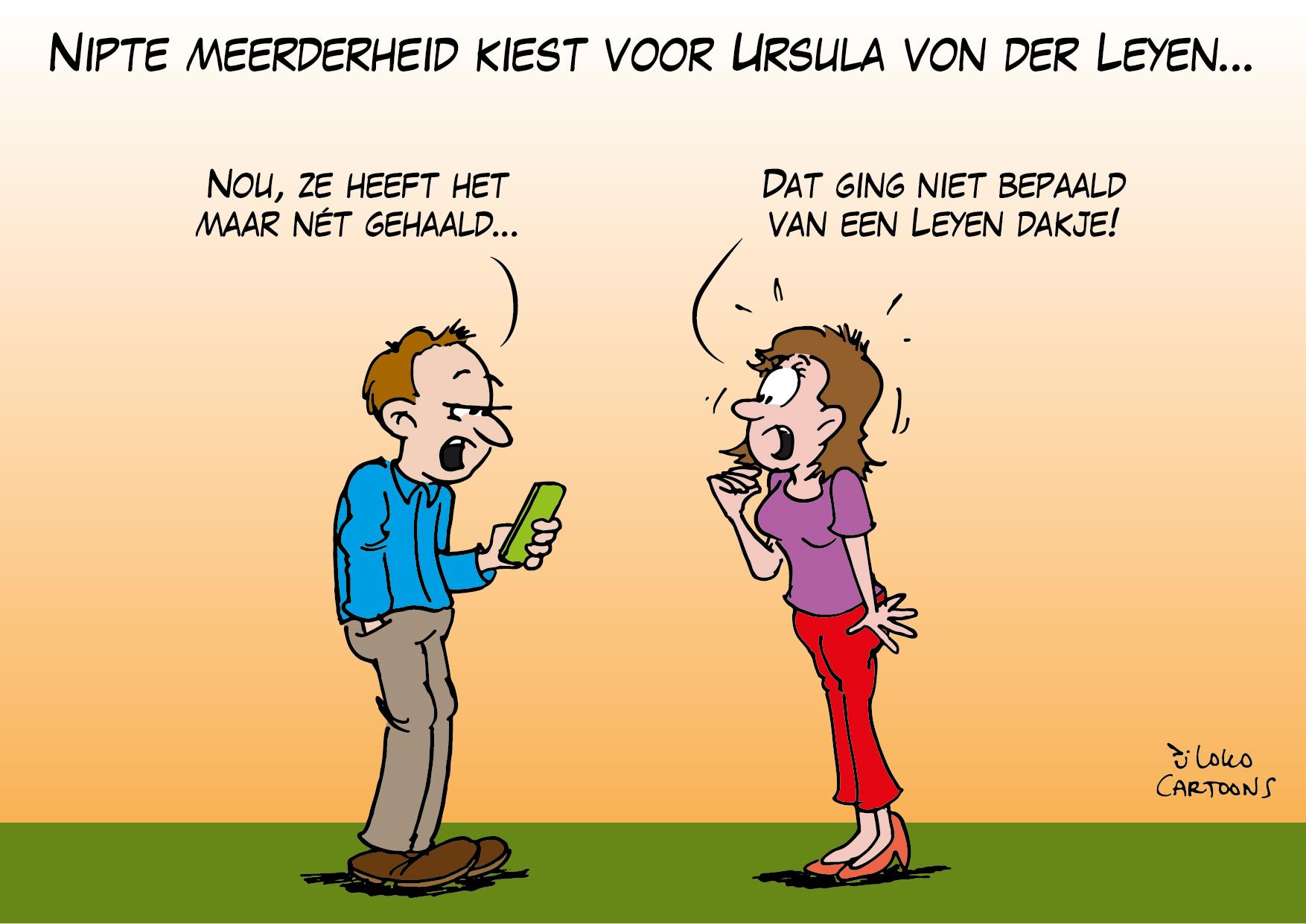 Nipte meerderheid kiest voor Ursula von der Leyen…