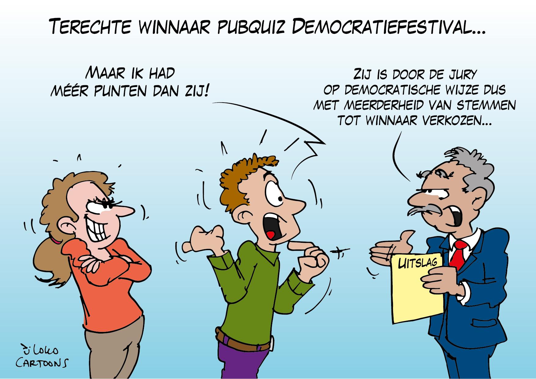 Terechte winnaar pubquiz Democratiefestival…