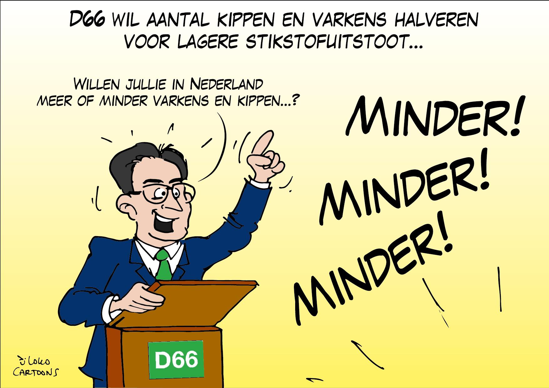 D66 wil aantal kippen en varkens halveren voor lagere stikstofuitstoot…