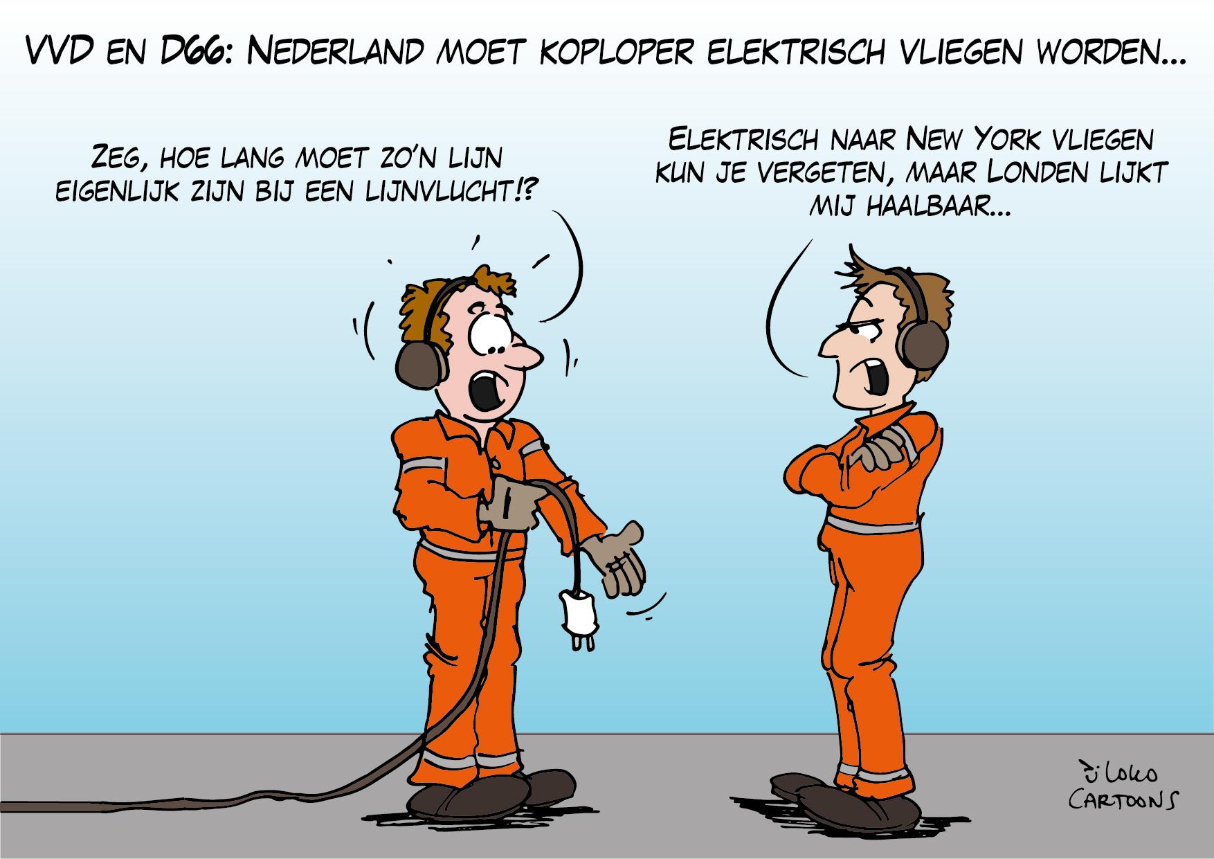 VVD en D66: Nederland moet koploper elektrisch vliegen worden…
