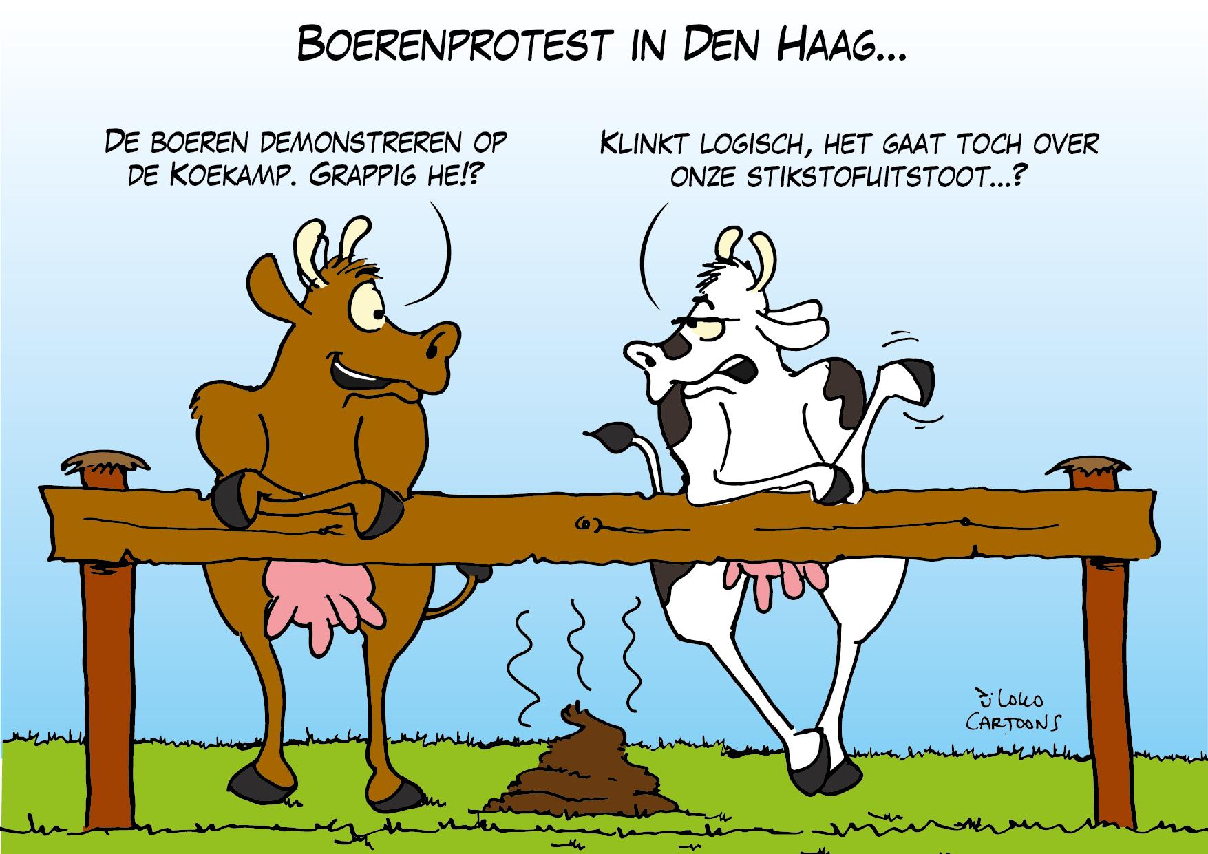 Boerenprotest in de Den Haag…