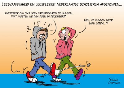 Leesvaardigheid en leesplezier Nederlandse scholieren afgenomen