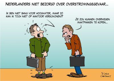 Nederlanders niet bezorgd over overstromingsgevaar