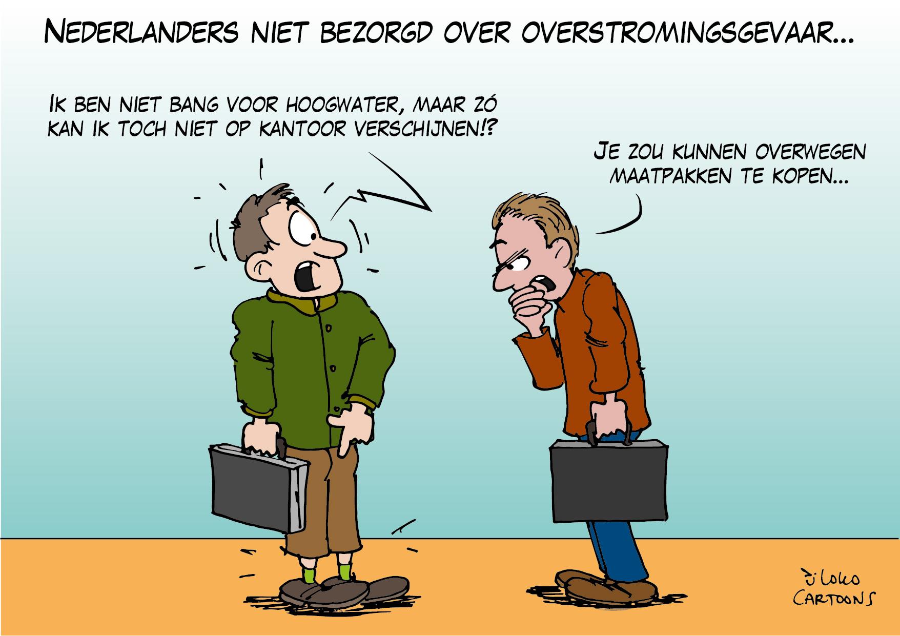 Nederlanders niet bezorgd over overstromingsgevaar…