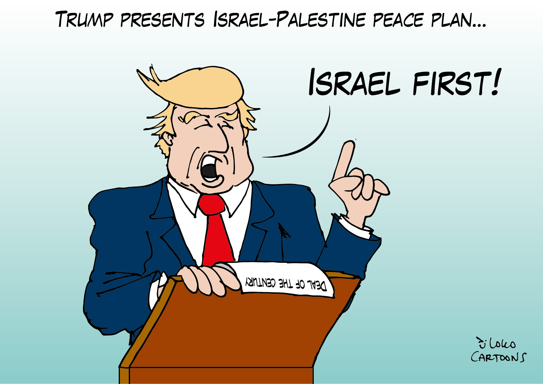 Trump presents Israel-Palestine peace plan…