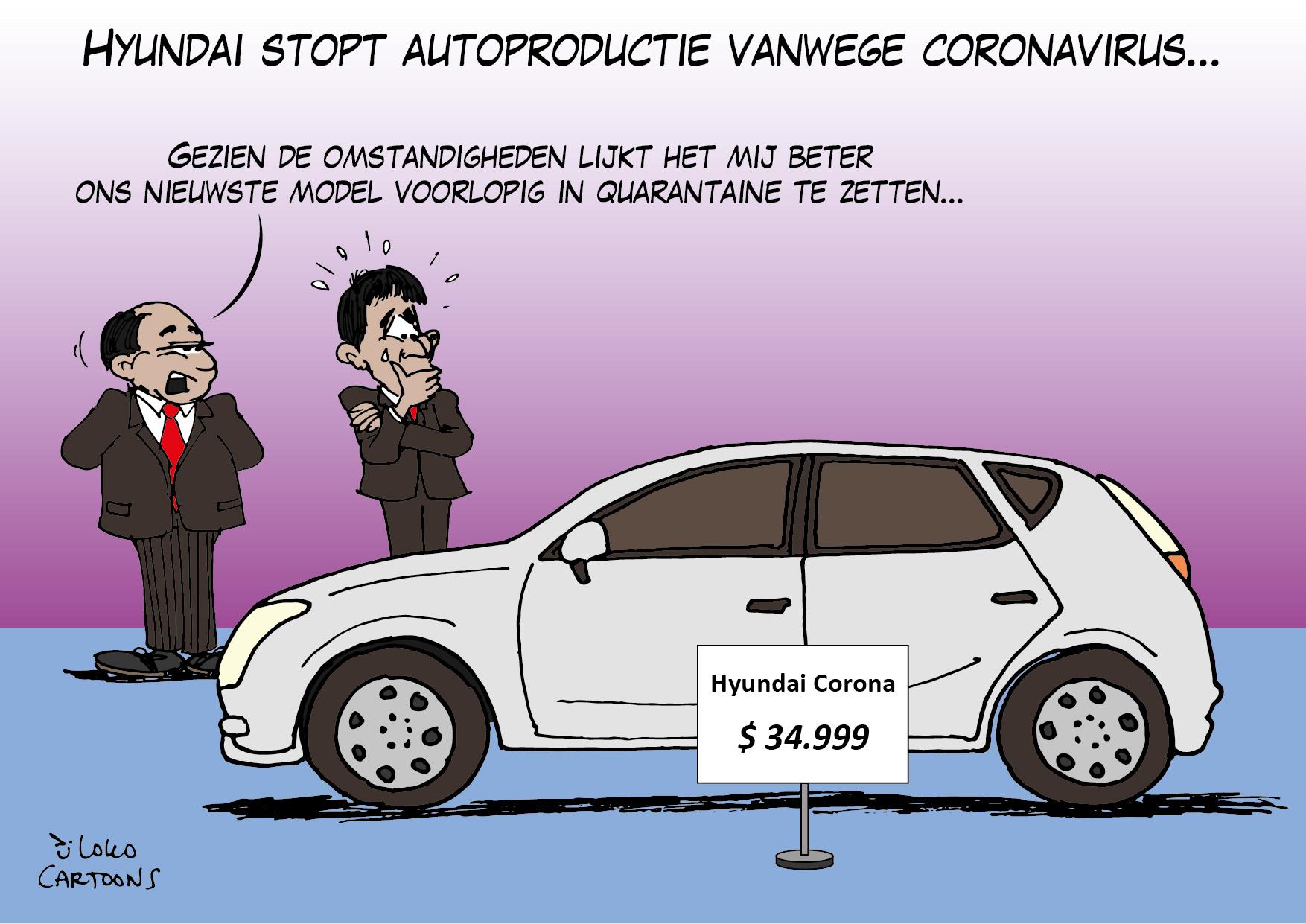 Hyundai stopt autoproductie vanwege coronavirus…