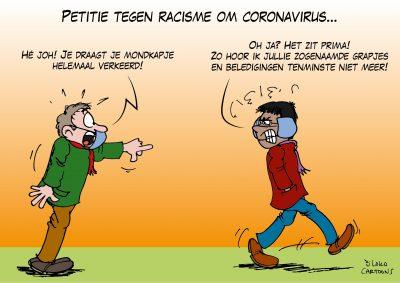 Online petitie tegen discriminatie en rascisme om coronavirus Corona, coronavirus, coronacrisis, COVID-19