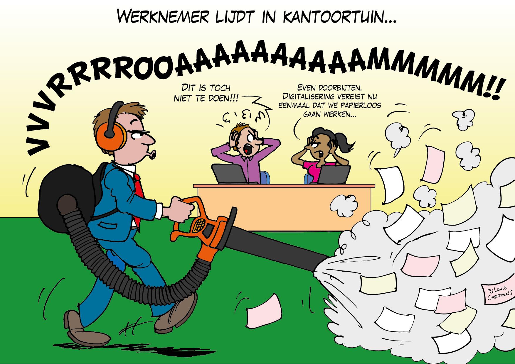 Werknemer lijdt in kantoortuin…