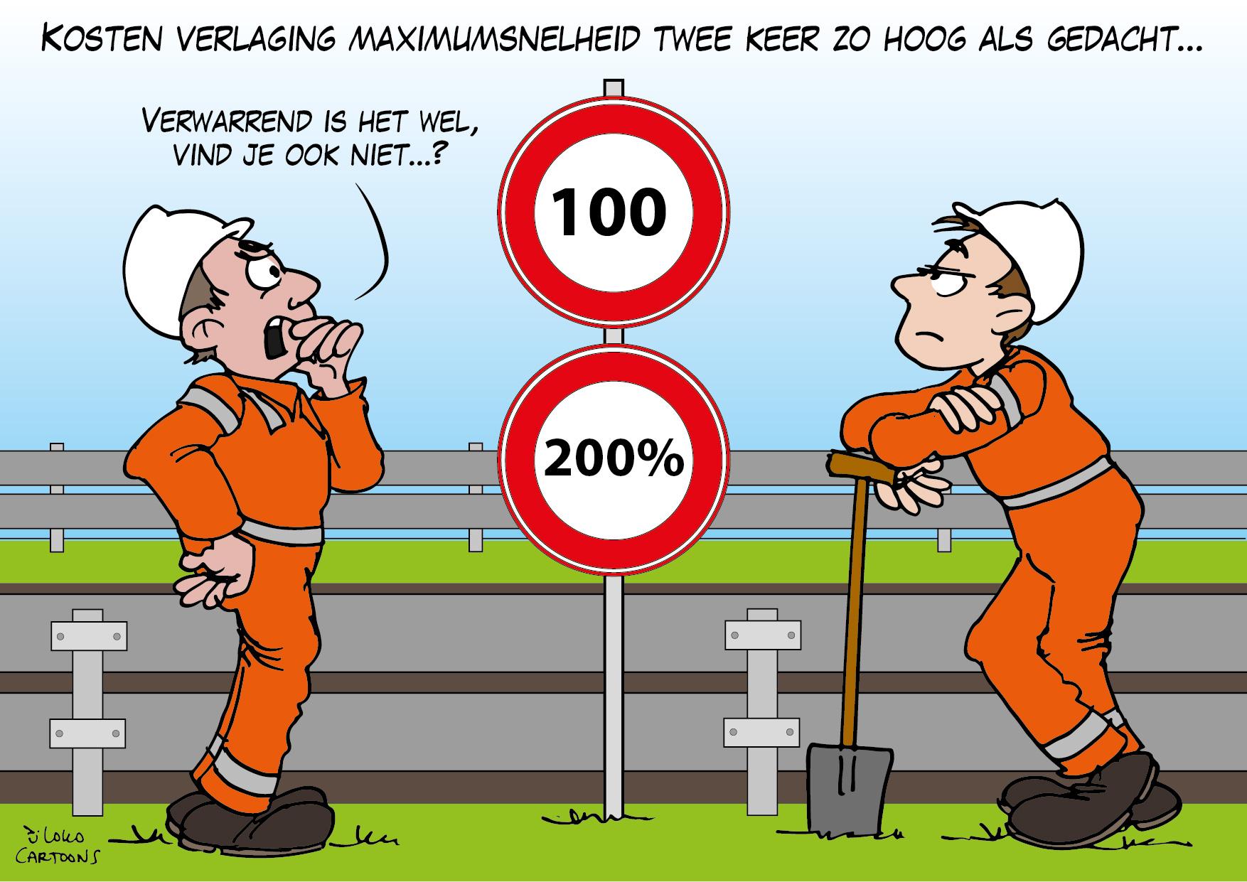 Kosten verlaging maximumsnelheid twee keer zo hoog als gedacht…