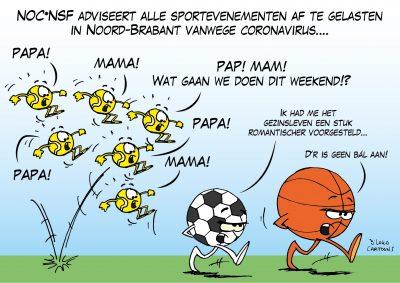 NOC*NCF adviseert alle sportevenementen af te gelasten in Noord-Brabant Corona, coronavirus, coronacrisis, COVID-19