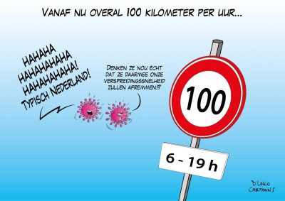 Vanaf nu overal 100 kilometer per uur Corona, coronavirus, coronacrisis, COVID-19