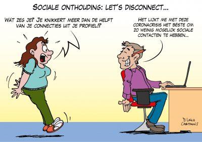 Sociale onthouding: let's disconnect Corona, coronavirus, coronacrisis, COVID-19