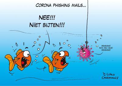 Thuiswerken leidt tot enorme stijging corona phishing mails Corona, coronavirus, coronacrisis, COVID-19