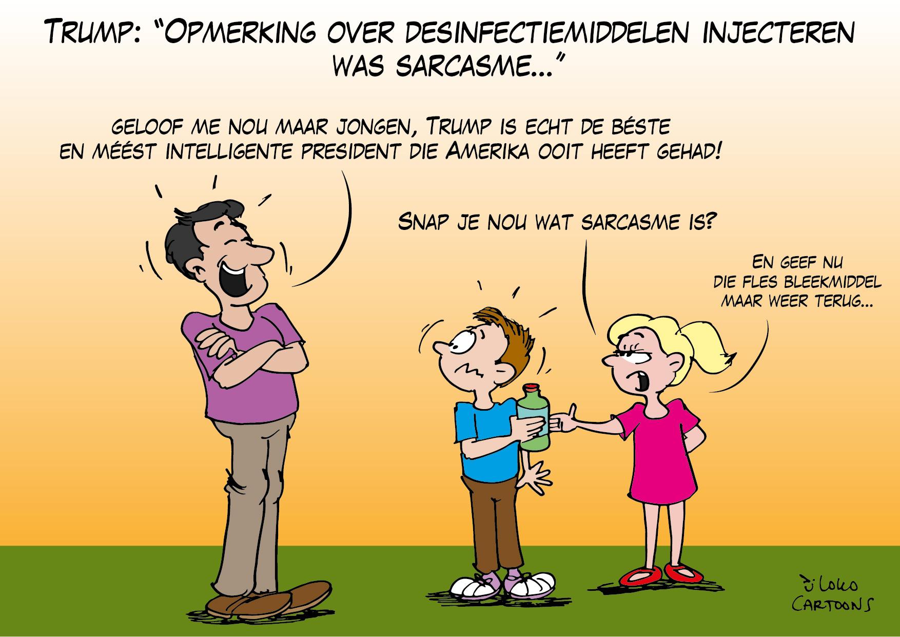 """Trump: """"Opmerking over desinfectiemiddelen injecteren was sarcasme""""…"""