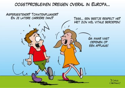 Oogstproblemen dreigen overal in Europa Corona, coronavirus, coronacrisis, COVID-19